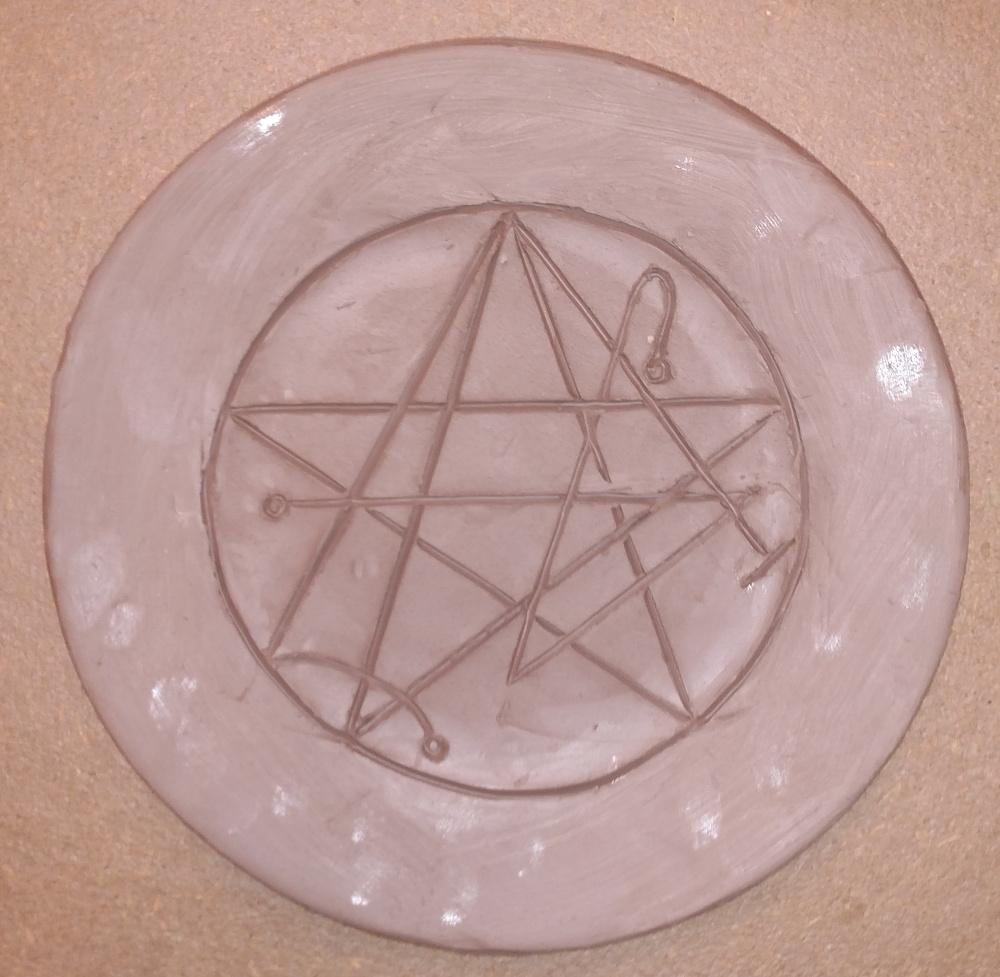 Aberrant Ceramics: Necronomicon Gate Plate WIP