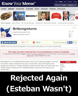Britbongreturns Rejected By Know Your Meme