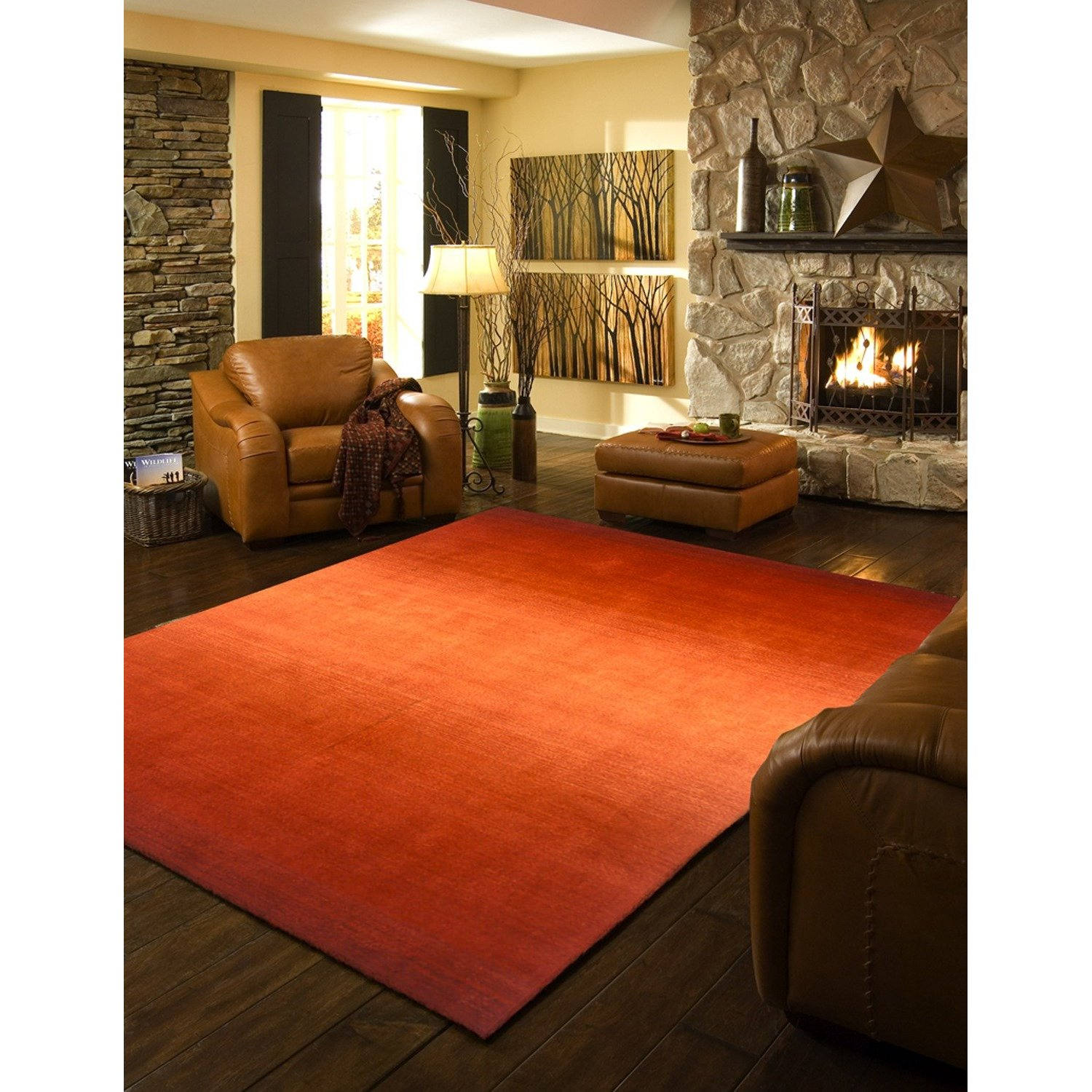 Midcentury Modern Rug: Mad For Mid-Century: Orange Rug For A Mid-Century Ranch