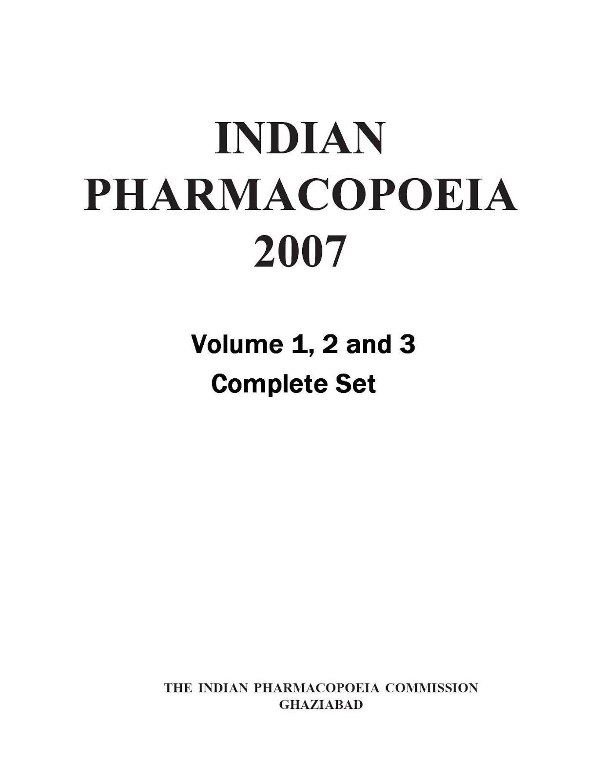 Book Of Indian Pharmacopoeia