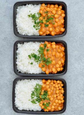 Vegan Chickpea Curry & Basmati Rice Meal Prep