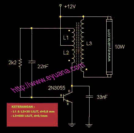 Inverter Lampu TL