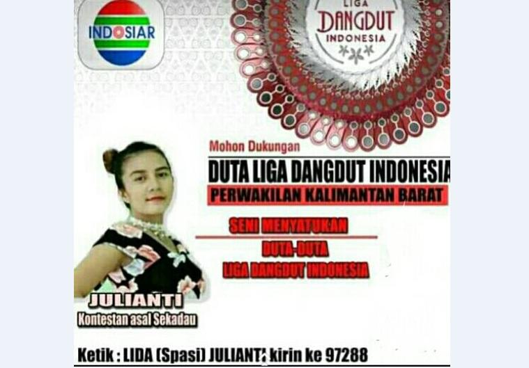 Kontestan Liga Dangdut Indosiar Asal Sekadau akan tampil besok malam