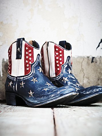 americana flag boots
