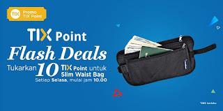 dapatkan merchandise travel dengan menukar sepuluh tix point