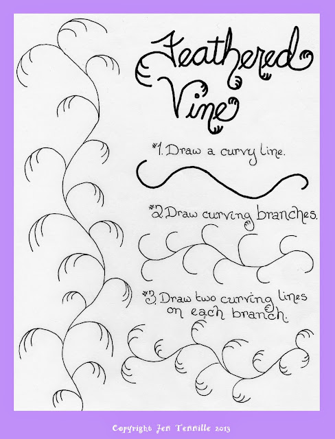Feathered Vine Doodle Tutorial