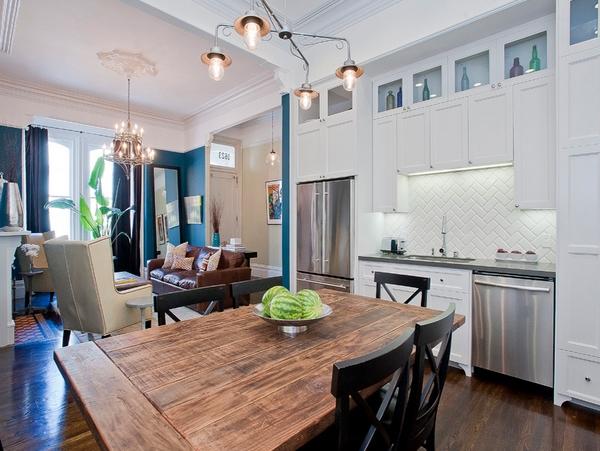 merupakan furnitur utama dalam sebuah rumah Kursi dan Meja Kayu untuk Dapur