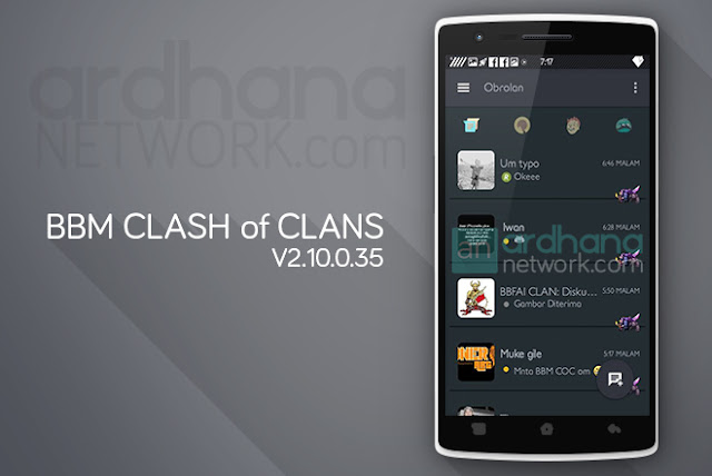 BBM Clash of Clans - BBM Android V2.10.0.35