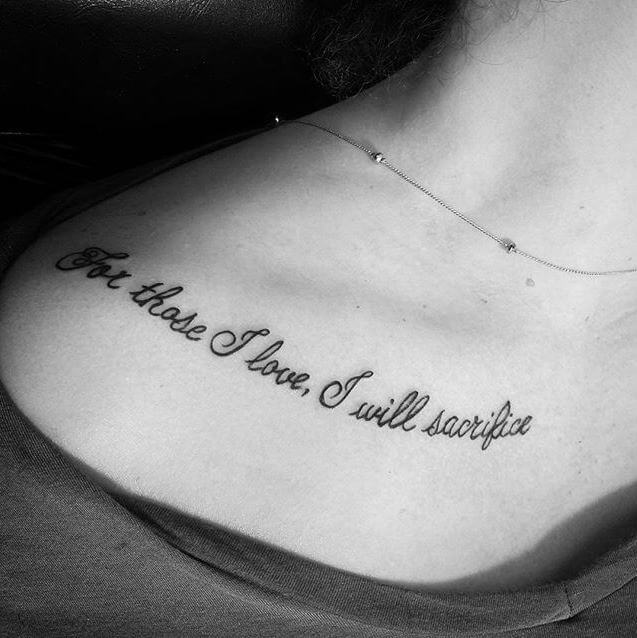 30 Inspiring Quote Tattoos For Girls On Collar Bone: 195+ Best Tattoos For Girls With Meaning (2018