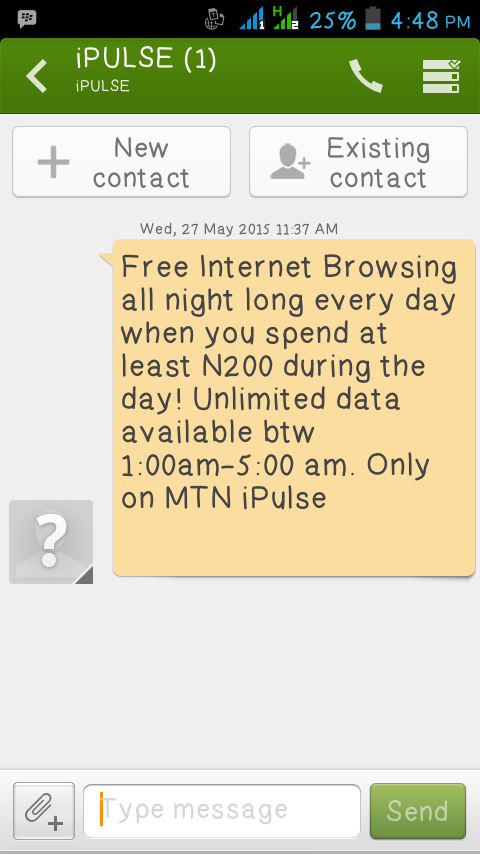 Android Joint: GET UNLIMITED DATA EXCLUSIVELY ON MTN IPULSE