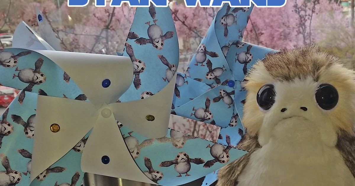DIY Porg Pinwheel Craft - Perfect for Star Wars Birthday Parties and Easter Baskets