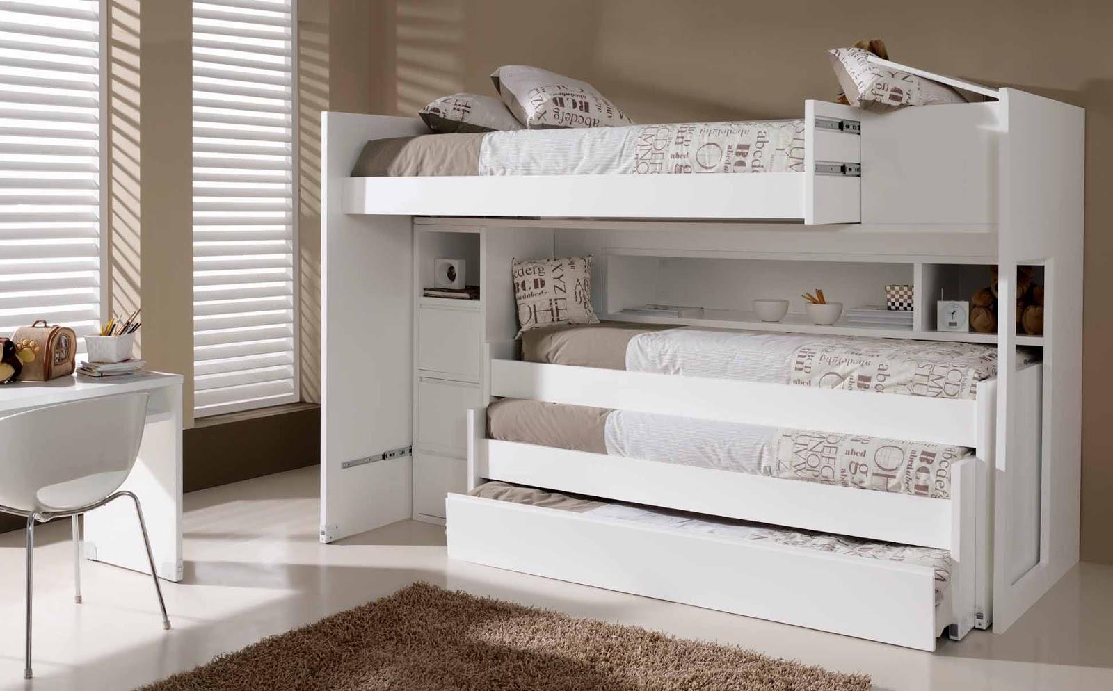 Arte h bitat tu tienda de muebles espacios peque os - Literas de 3 camas ...