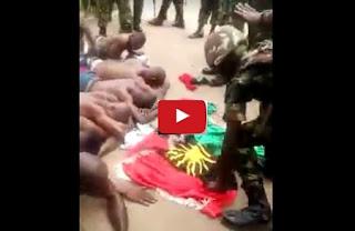 Video Of Nigerian Army Brutalizing IPOB Members in Umuahia
