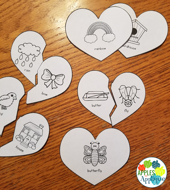 Compound Word Matching Activity | Apples to Applique