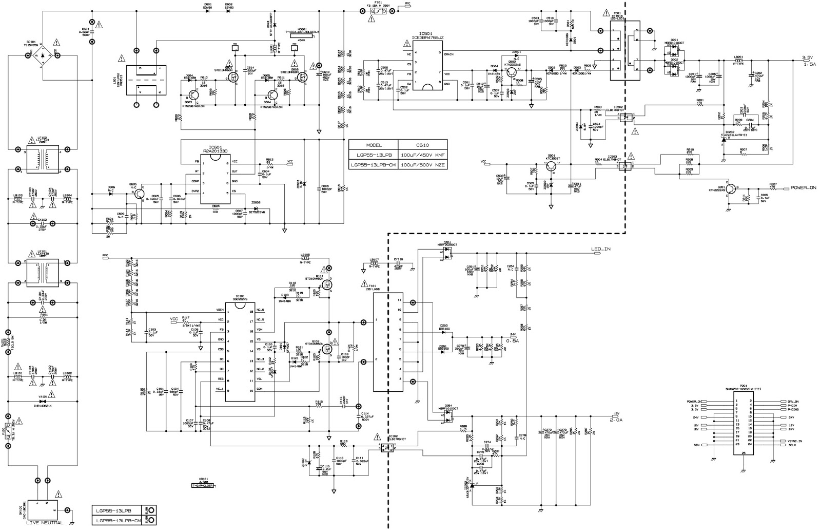 lg eay62811001 power supply board circuit diagram schematic and lg led tv schematic diagram [ 1600 x 1036 Pixel ]
