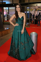 Raashi Khanna in Dark Green Sleeveless Strapless Deep neck Gown at 64th Jio Filmfare Awards South ~  Exclusive 081.JPG