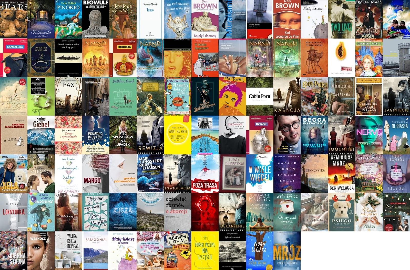 podsumowanie roku, przeczytane książki, 2017 rok, ponad sto przeczytanych książek