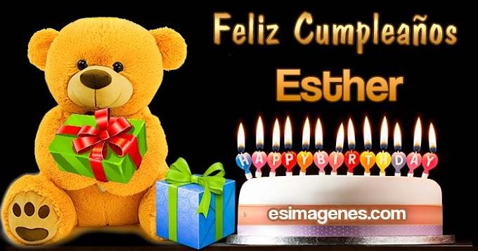 Feliz Cumpleaños Esther