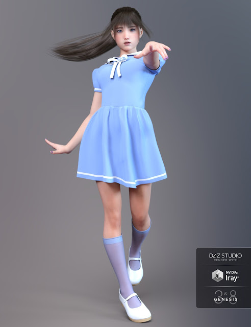 Mia for Genesis 3 and 8 Female
