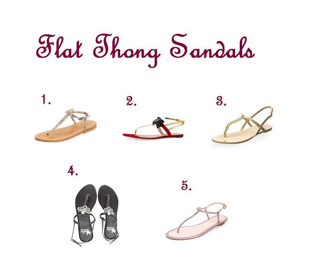 Shoe Essentials : The 5 Styles of Shoes You Should Have in Your Closet Flat Thong Sandals