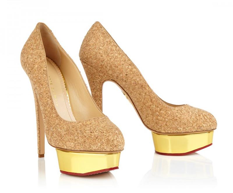champagne cork high heels