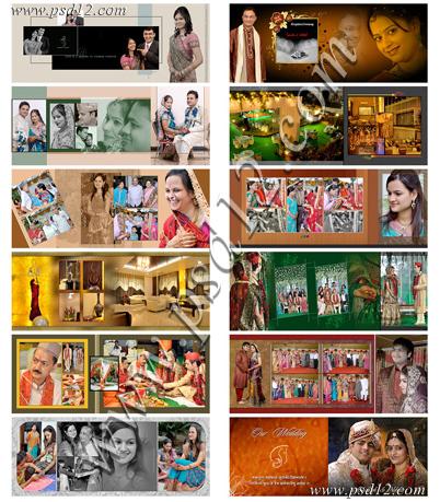 Professional wedding albums design for photographers | psd12.com