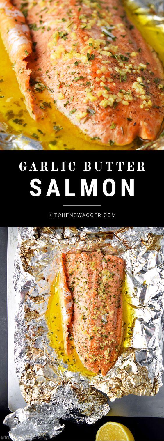 Garlic Butter Steelhead Trout in Foil Recipe