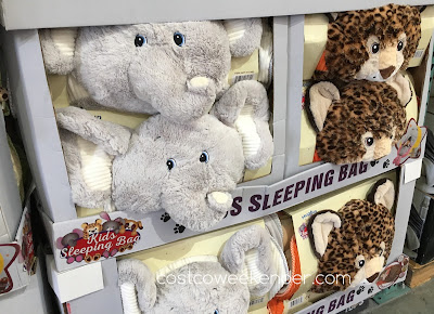 Elephant and leopard Hugfun Slumber Bags at Costco