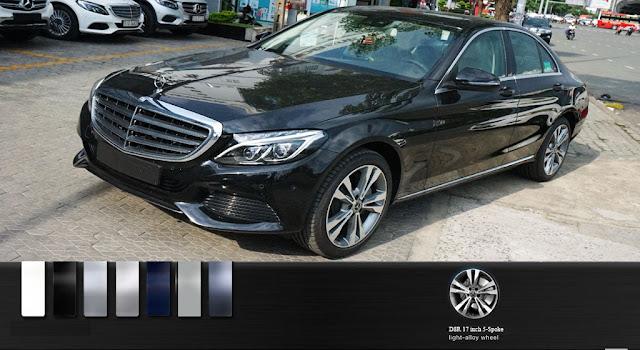Mercedes C250 Exclusive 2017 là một chiếc sedan 5 chỗ thiết kế theo phong cách cổ điển và lịch lãm