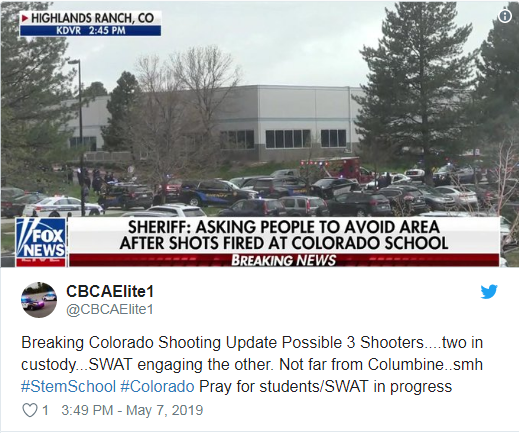 Stem School Highlands Ranch Shooting Suspect Played Guitar: RAMADAN ATTACK? SCHOOL SHOOTING SEVERAL VICTIMS At STEM