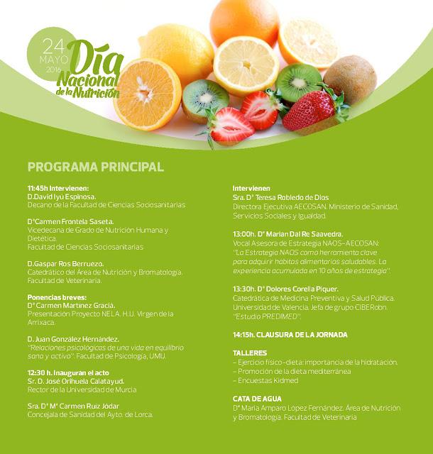 La Facultad de Ciencias Sociosanitarias de Lorca celebra el Día de la Nutrición con jornada de vida saludable.
