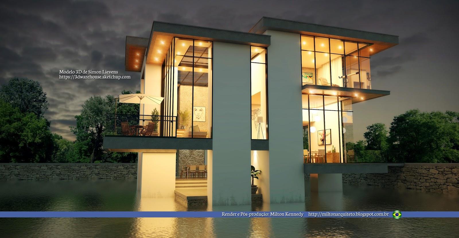 Milton kennedy arquiteto for Casa moderna sketchup download
