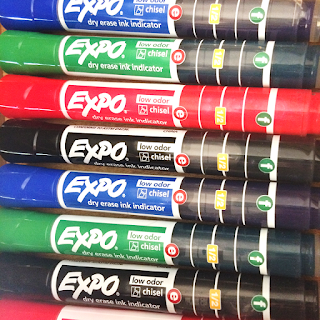EXPO ink indicator dry erase markers