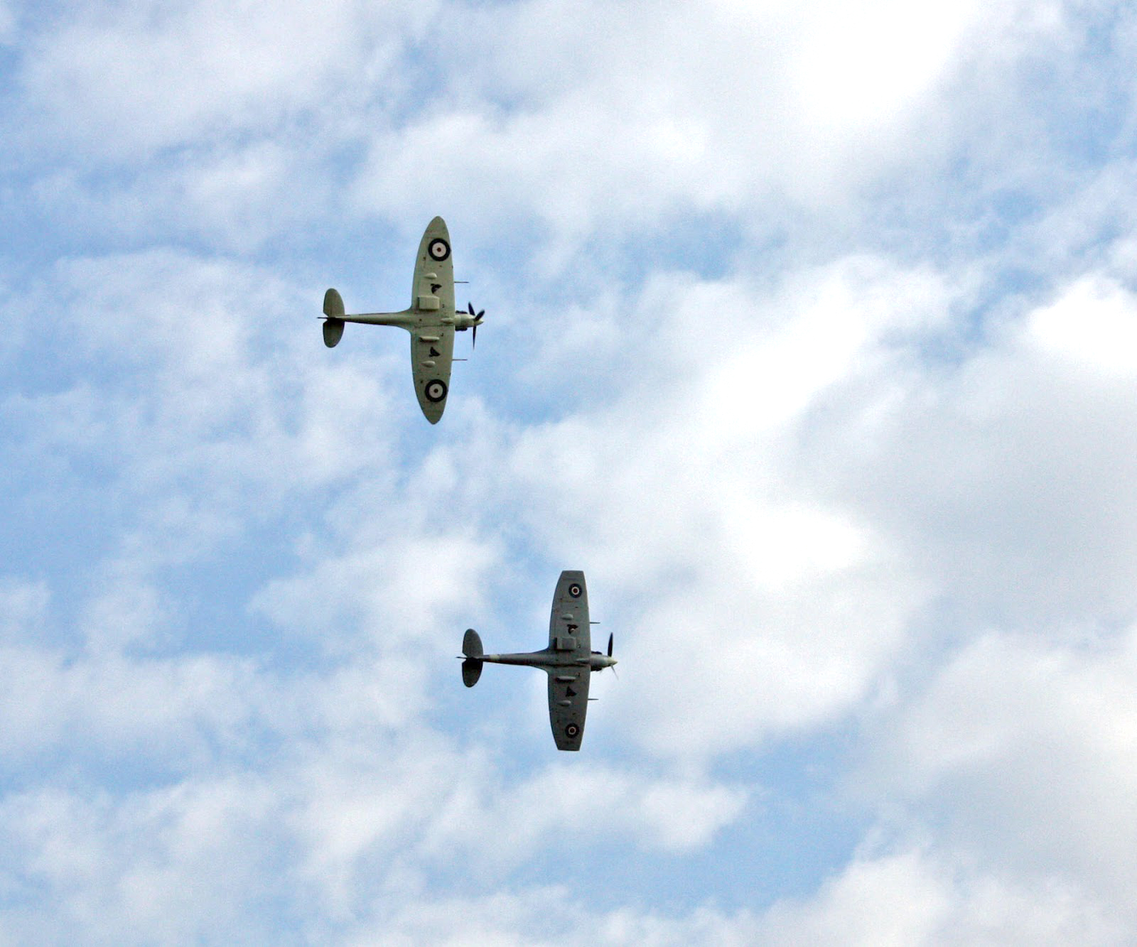 Duxford Airshow September 14th 2014 - Spitfires one with clipped wings