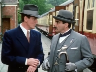 David Suchet and Hugh Fraser as Hercule Poirot and Arthur Hastings in Agatha Christie's Poirot