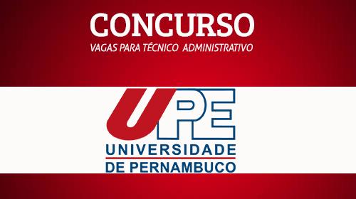 UPE - Concurso Técnicos Administrativos e Médicos 2017
