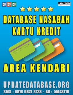 Jual Database Nasabah Kartu Kredit Kendari