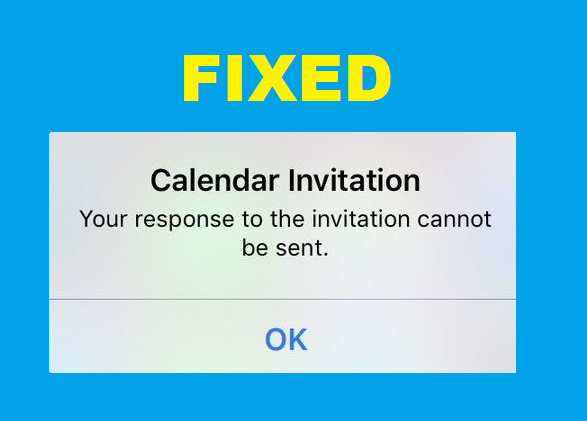 Calendar invitation your response to the invitation cannot be sent there may be a difficulty among your email account and calendar usage to fix this follow the below steps stopboris Gallery