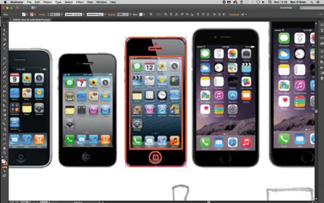 Crear icono de celular profesional en illustrator