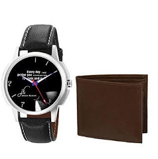 Jack Klein Men's Wrist Watch With Wallet