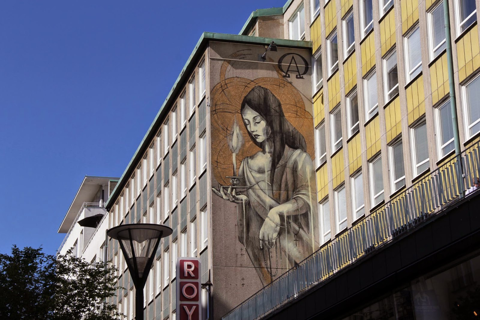 Faith47 is currently in Malmö, Sweden where she was invited to paint for the Artscape Street Art Festival.