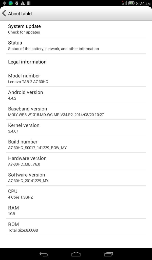 Lenovo A7-30HC MT6582 flash file   Nazrul Telecom