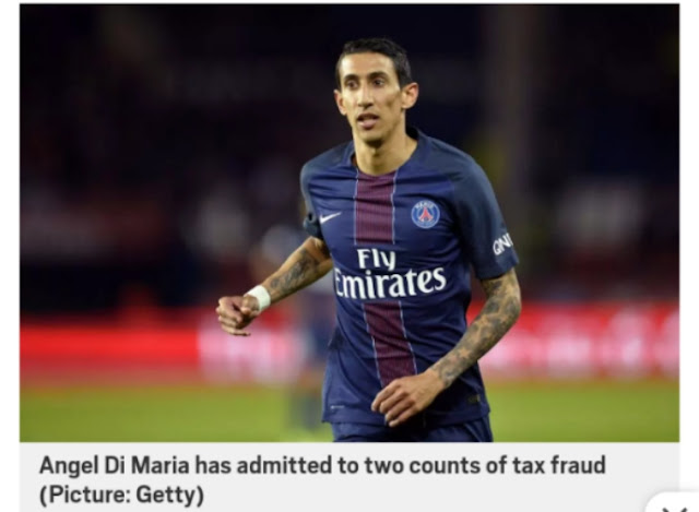Di Maria sentence to one year imprisonment for tax fraud