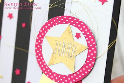 Stampin' Up Konfetti-Grüße, Stampinup Katalog 2016-2017; Stempel-Biene; Matchthesketch; Team Stempel-Biene; Glückwunschkarte zur Beförderung; Stempel-Biene