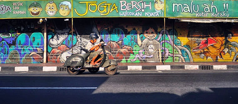 World imagination from jogja to indonesia for Mural yogyakarta