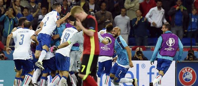 Euro 2016  - BELGIQUE 0 - 2 ITALIE : Le Résumé (32' E.Giaccherini90+2' G.Pelle)