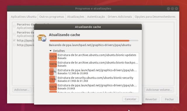 Atualizando repositório de Software