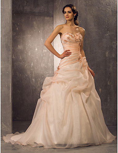 Vestidos de novia para gorditas color beige