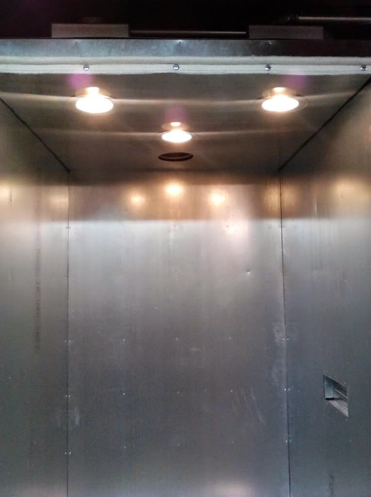 powder coating oven lighting