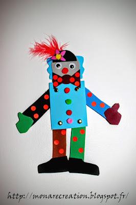 clown articulé activité enfant cirque et carnaval